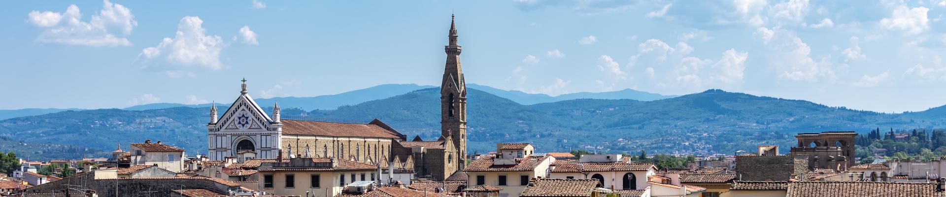 Firenze,panorama con Santa Croce