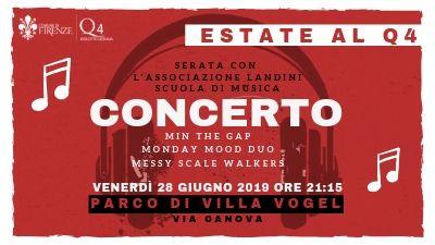 Estate al Q4: il 28 giugno a Villa Vogel concerto della Scuola di Musica Landini